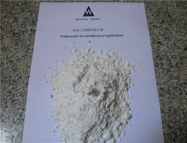 Wollastonite for metallurgical applications