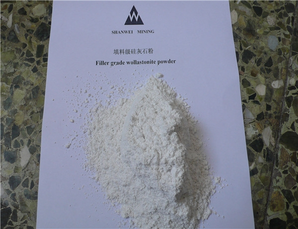 Filler grade wollastonite powder